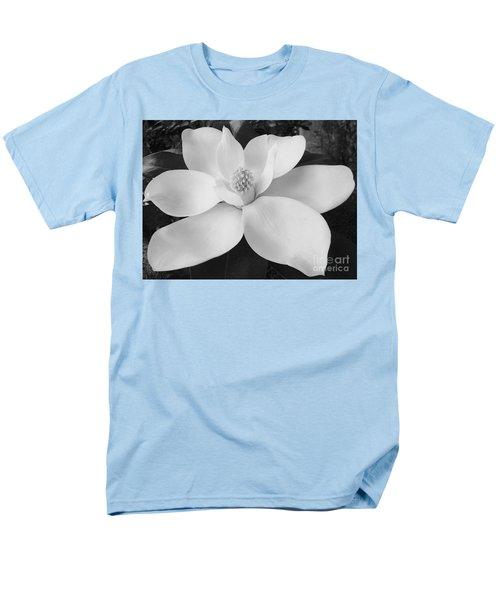 B W Magnolia Blossom Men's T-Shirt  (Regular Fit) by D Hackett