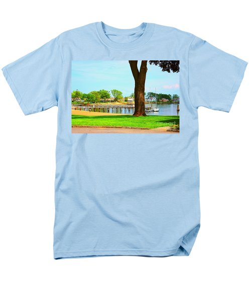 Men's T-Shirt  (Regular Fit) featuring the photograph By The Sea by Judy Palkimas