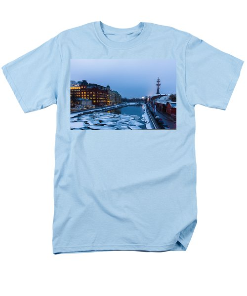 Bypass Canal Of Moscow River - Featured 3 Men's T-Shirt  (Regular Fit) by Alexander Senin