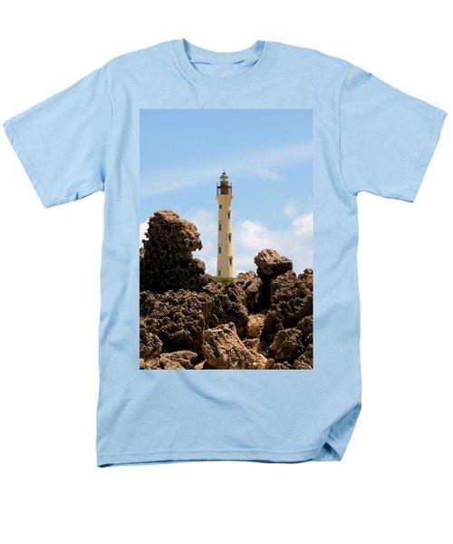 California Lighthouse Aruba Men's T-Shirt  (Regular Fit) by DJ Florek