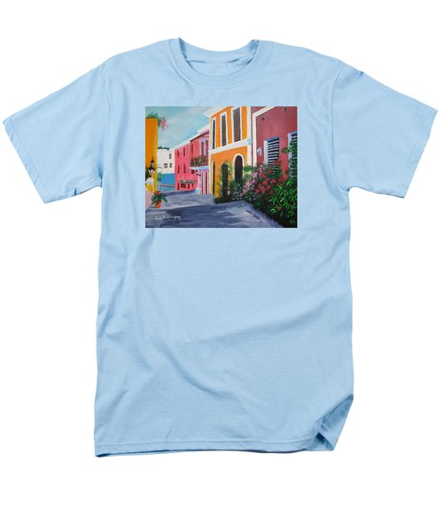 Callejon En El Viejo San Juan Men's T-Shirt  (Regular Fit) by Luis F Rodriguez