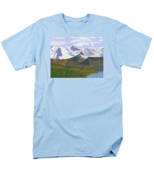 Men's T-Shirt  (Regular Fit) featuring the digital art Canadian Rockies by Terry Frederick