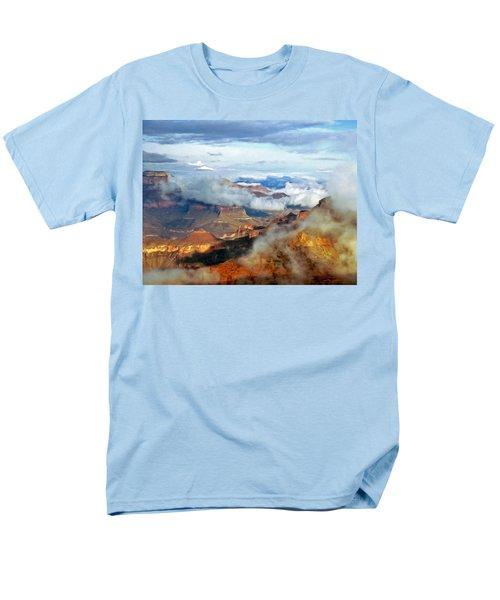 Men's T-Shirt  (Regular Fit) featuring the photograph Canyon Clouds by Alan Socolik