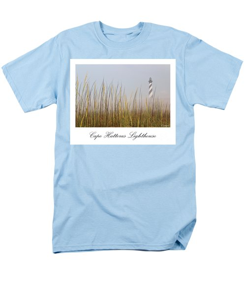 Cape Hatteras Lighthouse In The Fog Men's T-Shirt  (Regular Fit) by Tony Cooper