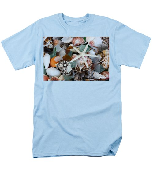 Caribbean Shells Men's T-Shirt  (Regular Fit) by The Art of Alice Terrill