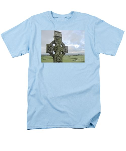 Men's T-Shirt  (Regular Fit) featuring the photograph Celtic Cross by Suzanne Oesterling