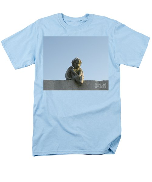 Men's T-Shirt  (Regular Fit) featuring the photograph Cemetery Cherub by Joseph Baril
