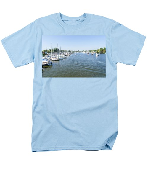 Channel Down Spa Creek Men's T-Shirt  (Regular Fit) by Charles Kraus