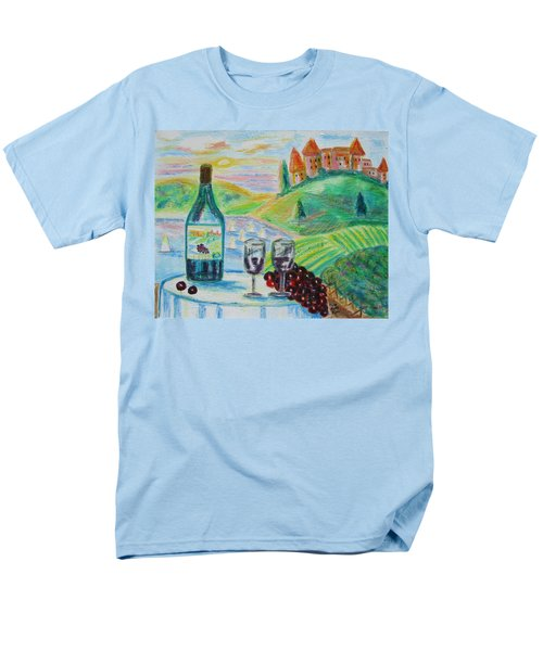 Men's T-Shirt  (Regular Fit) featuring the painting Chateau Wine by Diane Pape