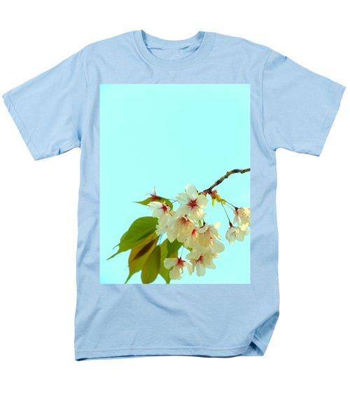Men's T-Shirt  (Regular Fit) featuring the photograph Cherry Blossom Flowers by Rachel Mirror