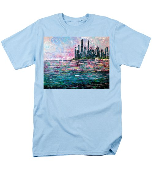 Chicago Morning - Sold Men's T-Shirt  (Regular Fit) by George Riney
