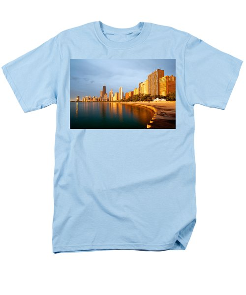 Chicago Skyline Men's T-Shirt  (Regular Fit) by Sebastian Musial