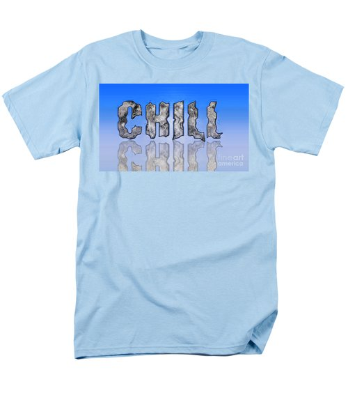 Men's T-Shirt  (Regular Fit) featuring the digital art Chill Digital Art Prints by Valerie Garner