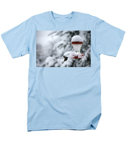 Christmas Hummingbird Men's T-Shirt  (Regular Fit) by Katie Wing Vigil