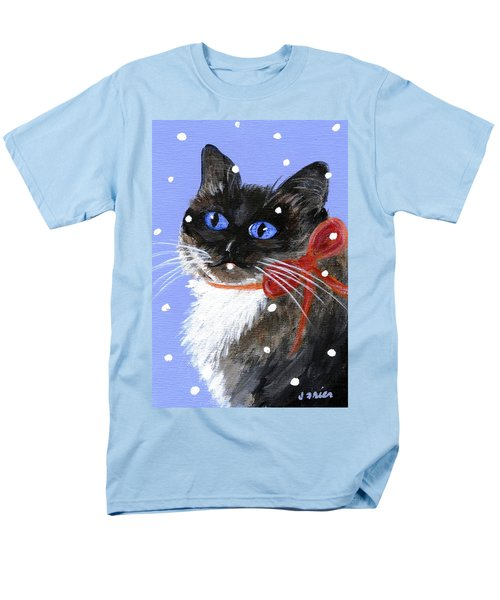 Men's T-Shirt  (Regular Fit) featuring the painting Christmas Siamese by Jamie Frier
