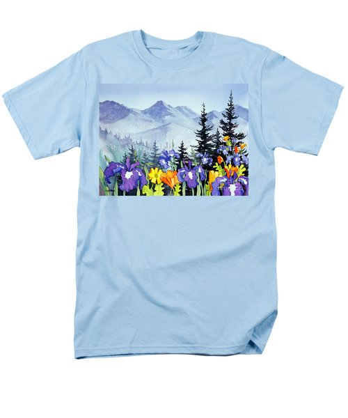 Men's T-Shirt  (Regular Fit) featuring the painting Chugach Summer by Teresa Ascone