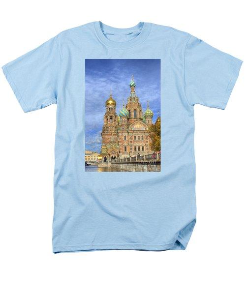 Church Of The Saviour On Spilled Blood. St. Petersburg. Russia Men's T-Shirt  (Regular Fit) by Juli Scalzi