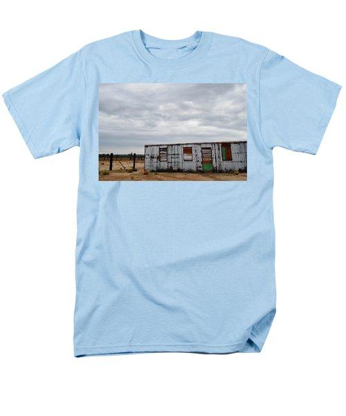 Cima Union Pacific Railroad Station Men's T-Shirt  (Regular Fit) by Kyle Hanson