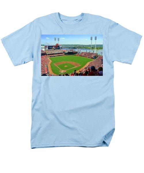 Cincinnati Reds Stadium Men's T-Shirt  (Regular Fit) by Kathy Barney