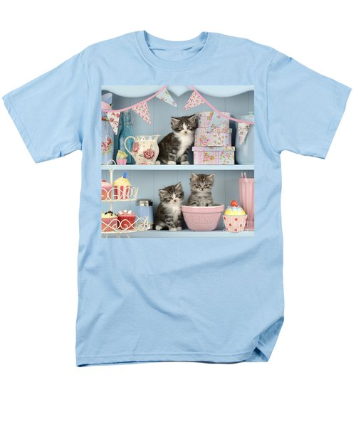 Baking Shelf Kittens Men's T-Shirt  (Regular Fit) by Greg Cuddiford