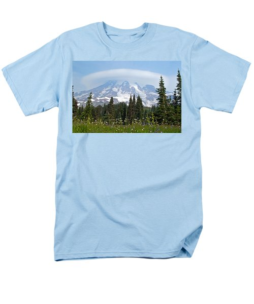 Cloud Capped Rainier Men's T-Shirt  (Regular Fit) by Tikvah's Hope