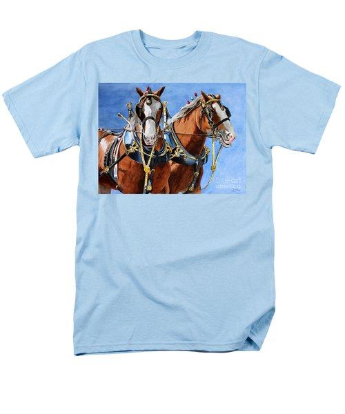 Clydesdale Duo Men's T-Shirt  (Regular Fit) by Debbie Hart