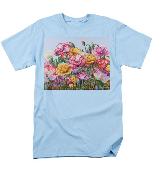 Men's T-Shirt  (Regular Fit) featuring the painting Coastal Poppies by Jane Girardot
