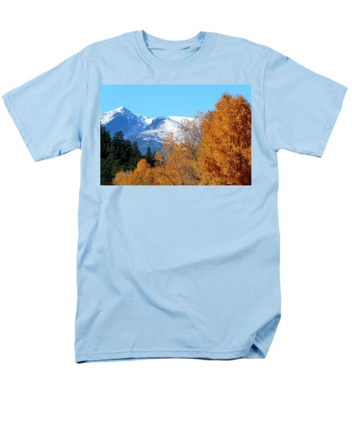 Colorado Mountains In Autumn Men's T-Shirt  (Regular Fit) by Marilyn Burton