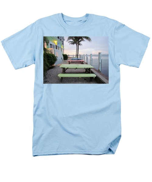 Men's T-Shirt  (Regular Fit) featuring the photograph Colorful Tables by Cynthia Guinn