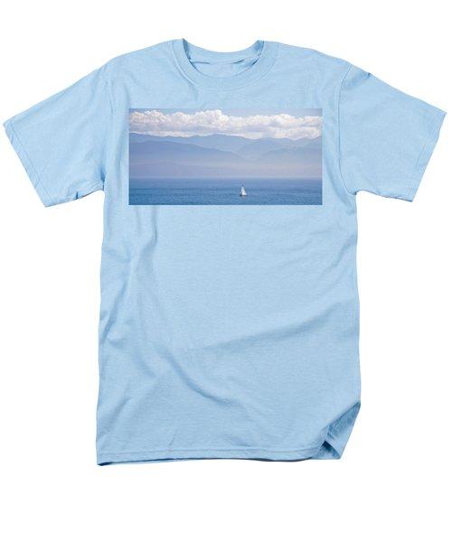 Colors Of Alaska - Sailboat And Blue Men's T-Shirt  (Regular Fit)
