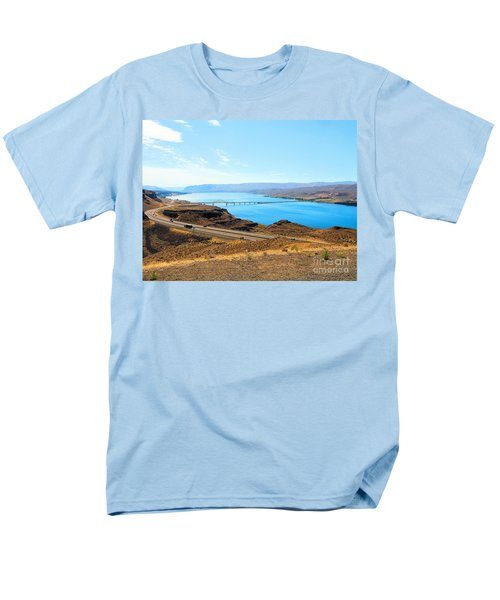 Columbia River From Overlook Men's T-Shirt  (Regular Fit) by Janette Boyd