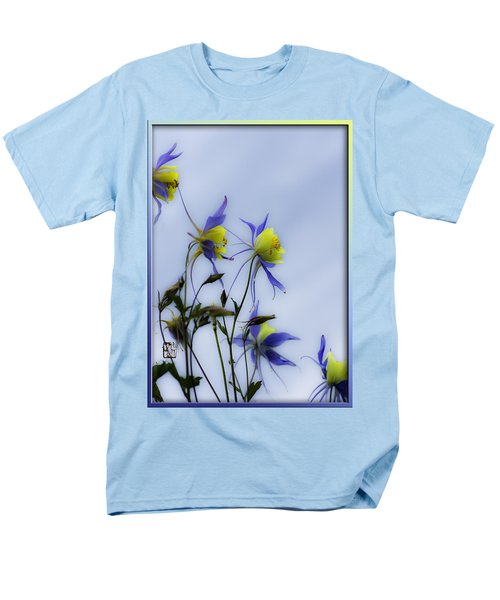Men's T-Shirt  (Regular Fit) featuring the photograph Columbines by Peter v Quenter