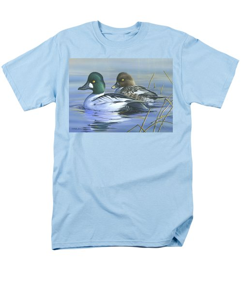 Men's T-Shirt  (Regular Fit) featuring the painting Common Goldeneye by Mike Brown