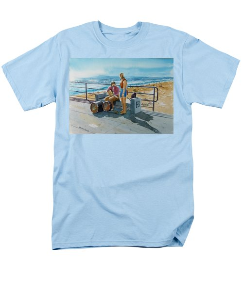 Concert In The Sun To An Audience Of One Men's T-Shirt  (Regular Fit) by Debbie Lewis