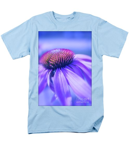 Cone Flower In Pastels  Men's T-Shirt  (Regular Fit) by Linda Bianic