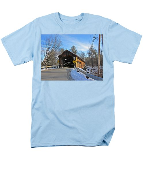 Coombs Covered Bridge Men's T-Shirt  (Regular Fit) by MTBobbins Photography