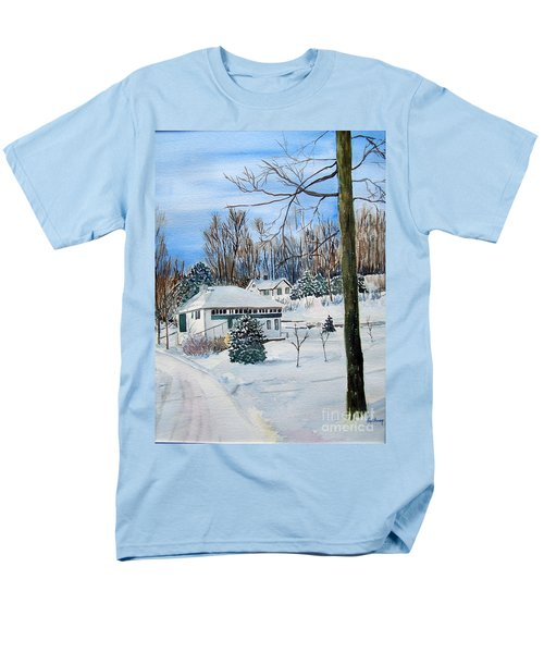 Country Club In Winter Men's T-Shirt  (Regular Fit) by Christine Lathrop