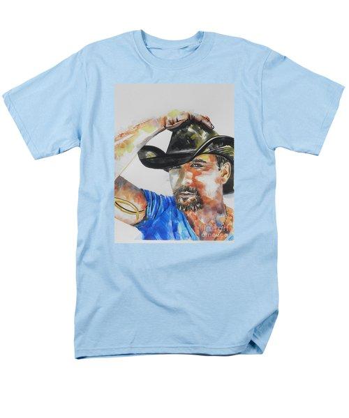 Country Singer Tim Mcgraw 02 Men's T-Shirt  (Regular Fit) by Chrisann Ellis
