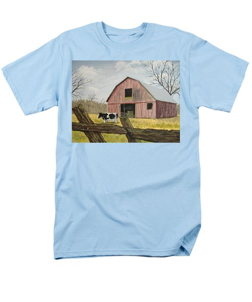 Cow And Barn Men's T-Shirt  (Regular Fit) by Norm Starks