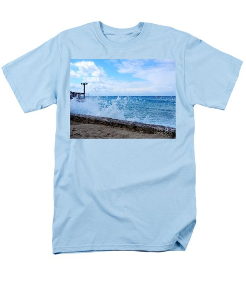 Men's T-Shirt  (Regular Fit) featuring the photograph Crashing Waves In Cozumel by Debra Martz