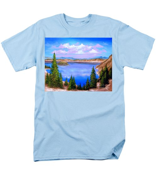 Crater Lake Oregon Men's T-Shirt  (Regular Fit) by Patrice Torrillo