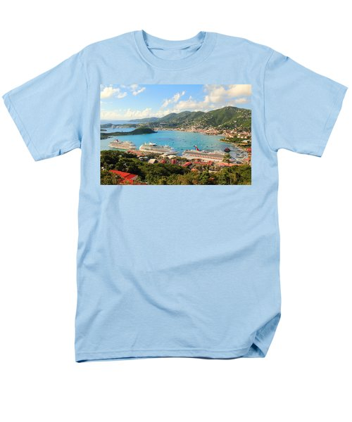 Cruise Ships In St. Thomas Usvi Men's T-Shirt  (Regular Fit) by Roupen  Baker