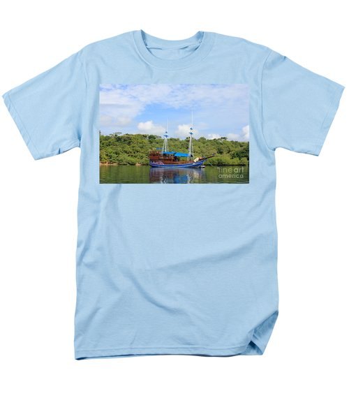 Cruising Yacht Men's T-Shirt  (Regular Fit) by Sergey Lukashin