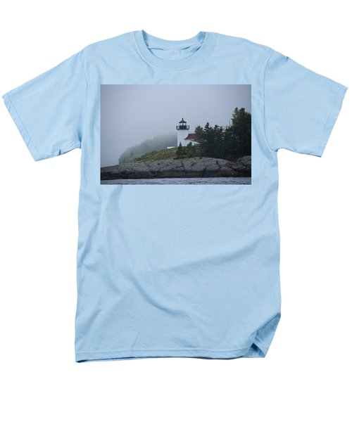 Curtis Island Lighthouse Men's T-Shirt  (Regular Fit) by Daniel Hebard