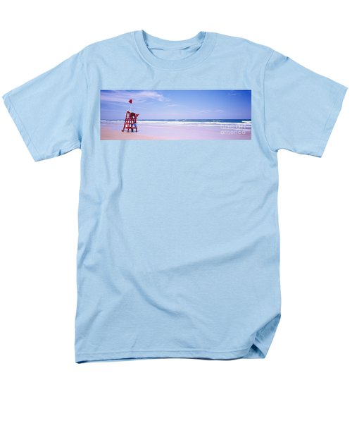 Daytona Beach Fl Life Guard  Men's T-Shirt  (Regular Fit) by Tom Jelen