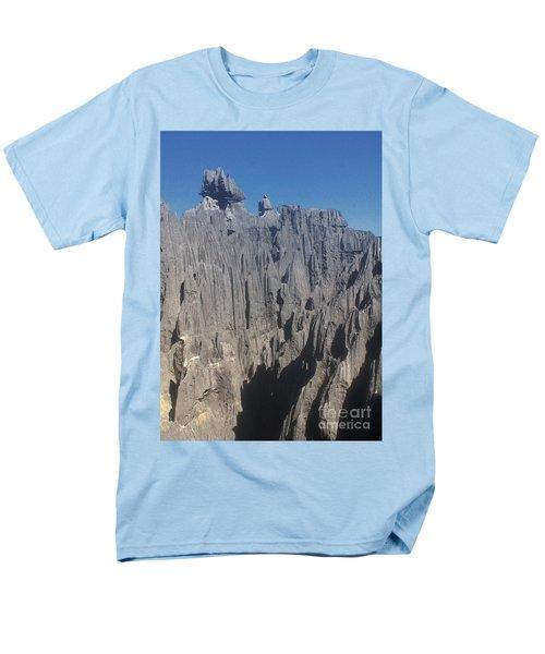 Men's T-Shirt  (Regular Fit) featuring the photograph detail of the Tsingy de Bemaraha Madagascar by Rudi Prott