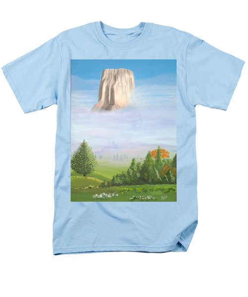 Men's T-Shirt  (Regular Fit) featuring the painting Devil's Tower  by Phyllis Kaltenbach