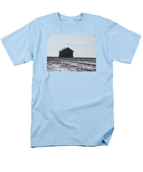 Men's T-Shirt  (Regular Fit) featuring the photograph Distant Local Train Depot by Tina M Wenger