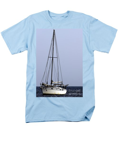Men's T-Shirt  (Regular Fit) featuring the photograph Docked At Bay by Lilliana Mendez