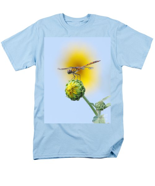 Dragonfly In Sunflowers Men's T-Shirt  (Regular Fit) by Robert Frederick